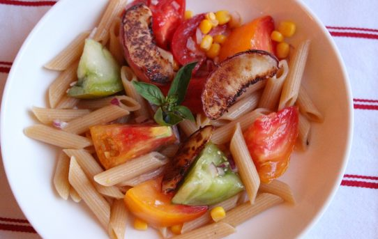 Heirloom Tomato and Grilled Peach Salad