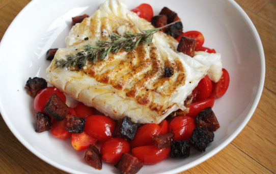 cod with chorizo and tomatoes