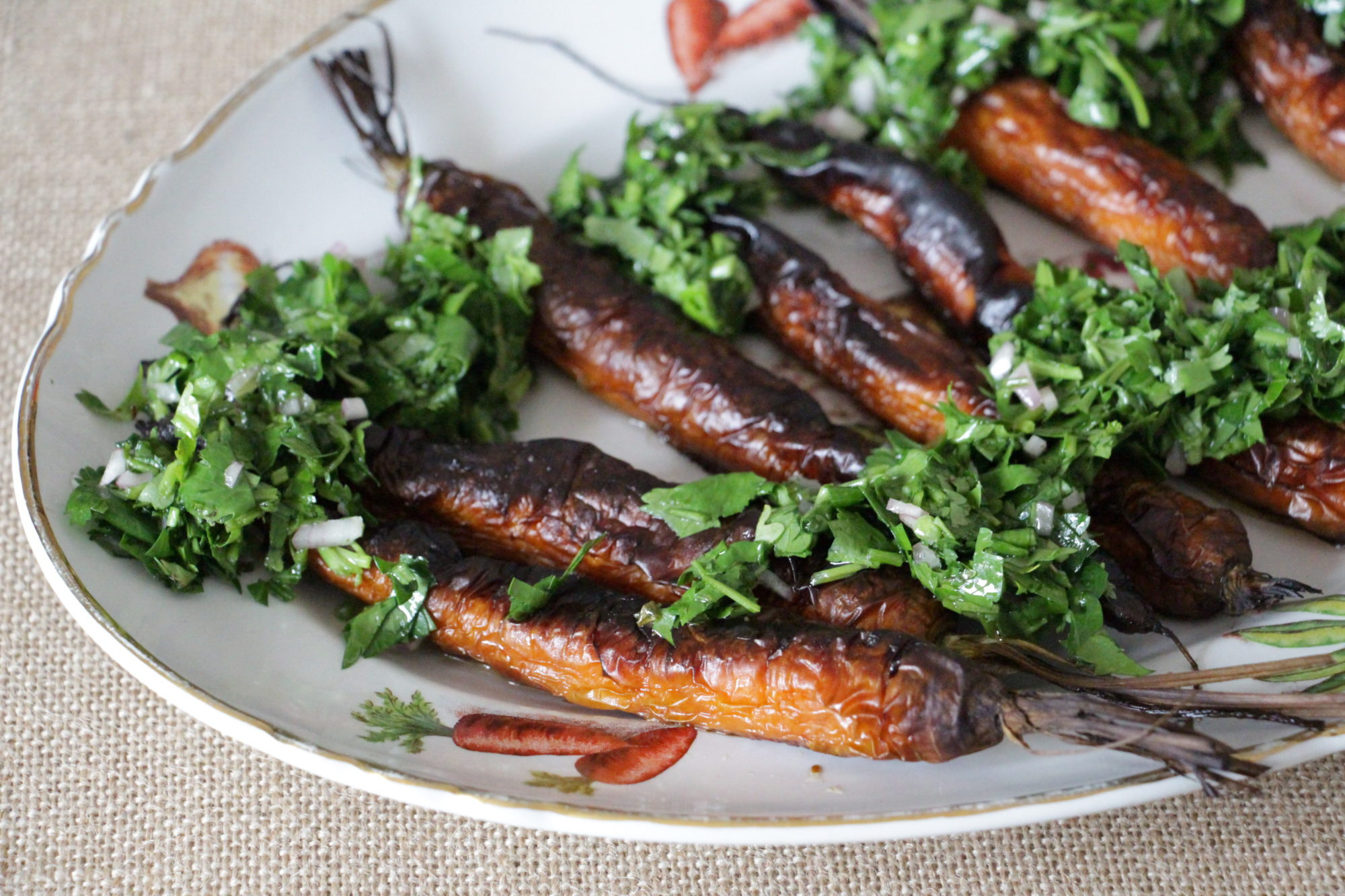 carrots with chimichurri