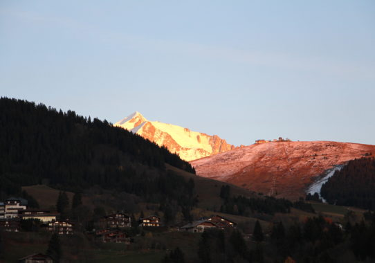 sunset in megève