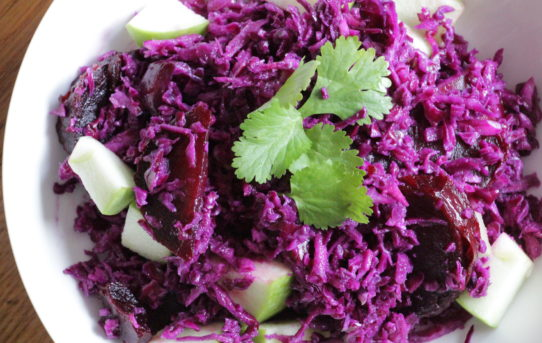 cabbage and beets